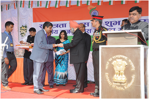 Awarded by Indian Embassy