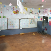 Classrooms for pre-primary level students have attached washrooms